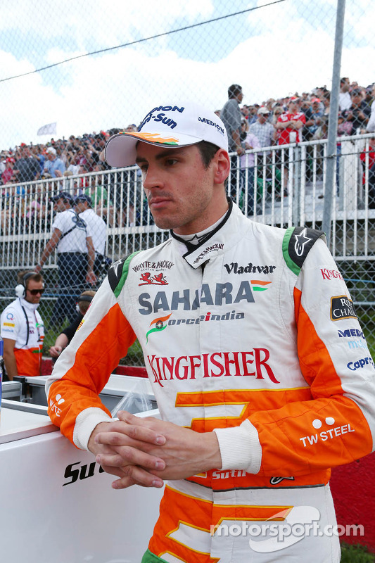 Adrian Sutil, Sahara Force India F1, no grid
