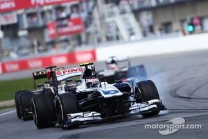 Valtteri Bottas, Williams FW35 locks up under braking