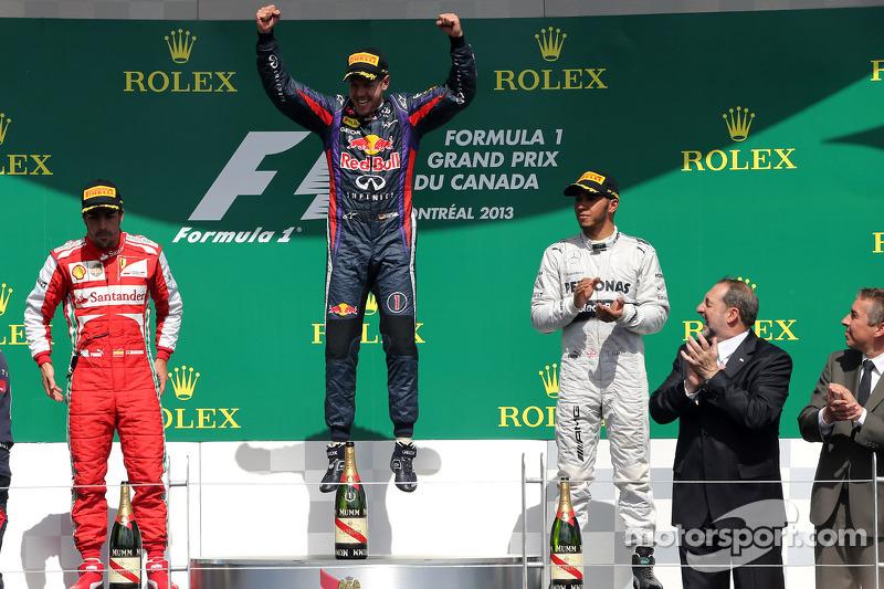 2013 - 1. Sebastian Vettel, 2. Fernando Alonso 3. Lewis Hamilton