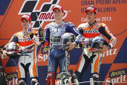 Podium: Sieger Jorge Lorenzo, 2. Dani Pedrosa, 3. Marc Marquez