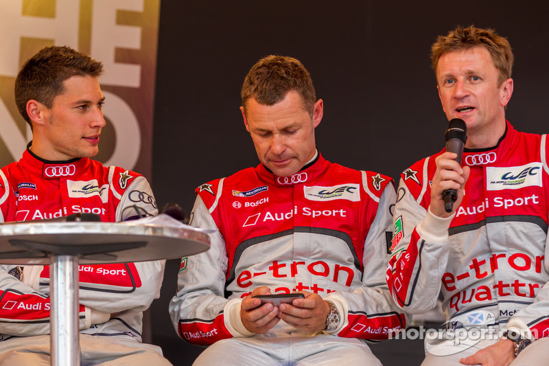Loic Duval, Tom Kristensen, Allan McNish