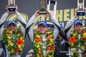 LMP1 podium privateer: class winners Nick Leventis, Jonny Kane, Danny Watts