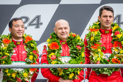 LMGTE Am podium: second place Piergiuseppe Perazzini, Darryl O'Young, Lorenzo Casé