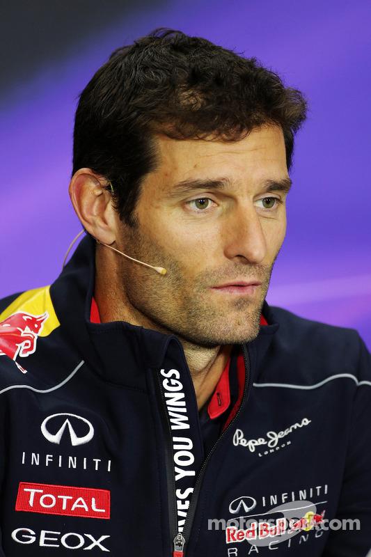 Mark Webber, Red Bull Racing na coletiva da FIA.