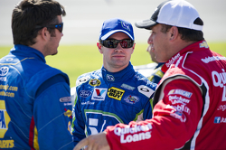 Martin Truex Jr., Ricky Stenhouse Jr. and Ryan Newman