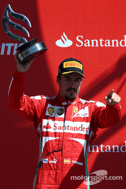 terceiro colocado Fernando Alonso, Ferrari F138