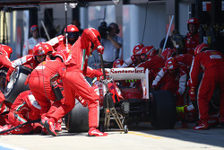 Fernando Alonso, Ferrari F138 pit stop