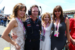 Christian Horner Red Bull Racing Team Principal with Amanda Holden, Geri Halliwell Singer and Carol Vordermann on the grid