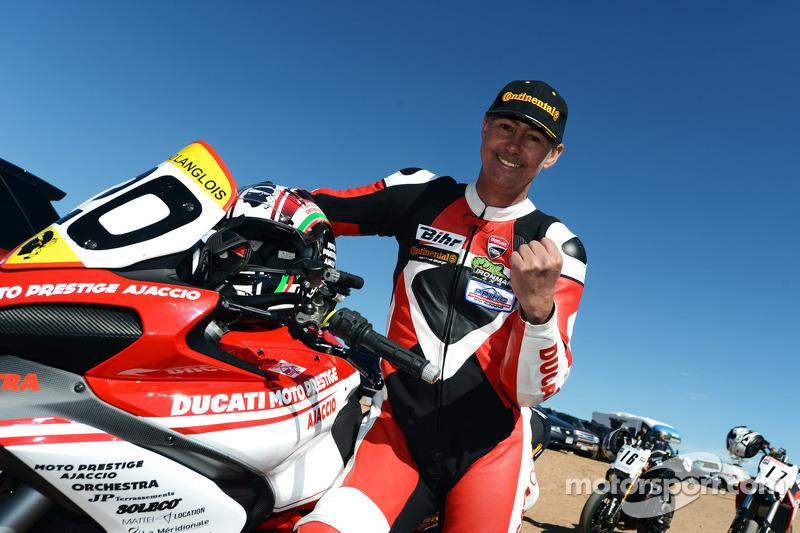 Bruno Langlois, winnaar bij de motoren