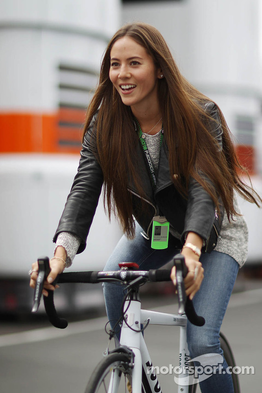Jessica Michibata, rides a bicycle