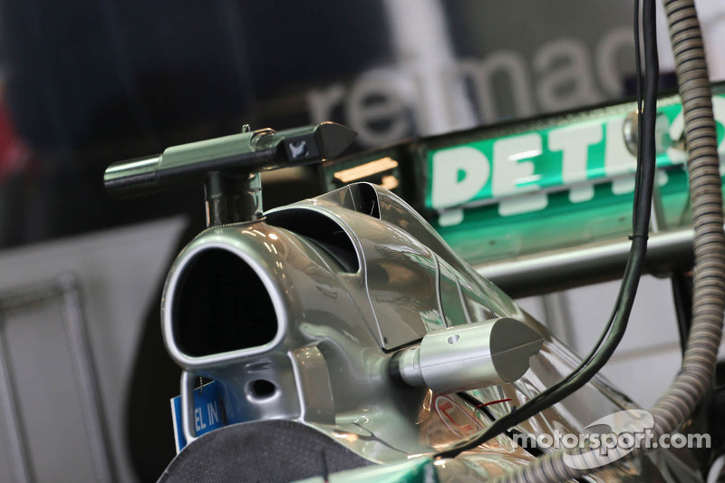 Mercedes AMG F1 W04 engine cover air box detail