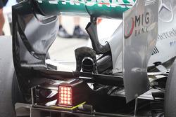 Mercedes AMG F1 running passive DRS
