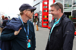 (L to R): Ron Howard, Film Director with David Croft, Sky Sports Commentator