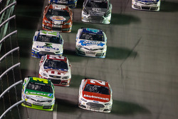 David Stremme, Swan Racing Toyota and Trevor Bayne, Wood Brothers Racing Ford battle