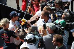 Sebastian Vettel, Red Bull Racing with Kai Ebel, RTL TV Presenter