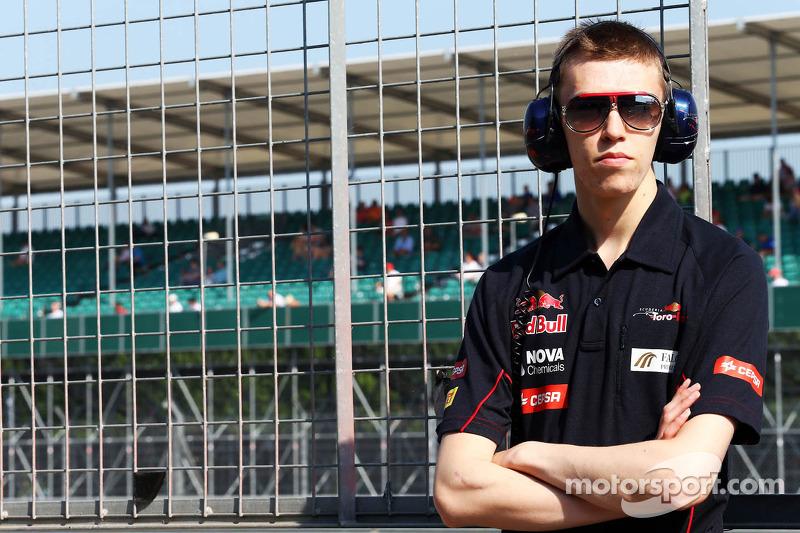 Daniil Kvyat, Scuderia Toro Rosso piloto de pruebas
