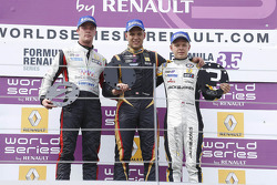 Podium: winner Marco Sorensen, second place Nigel Melker, third place Kevin Magnussen
