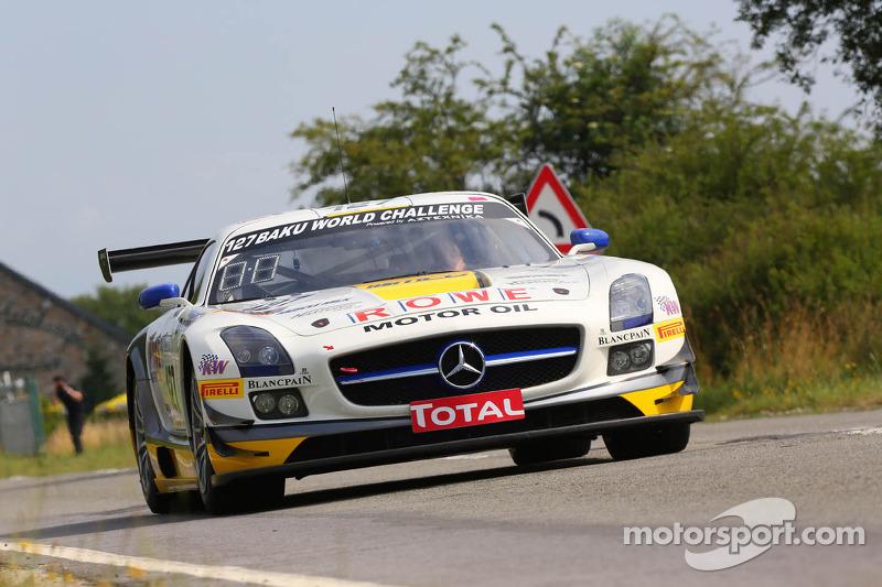 #127 Rowe Racing, Mercedes-Benz SLS AMG GT3: Jan Seyffarth, Lance David Arnold, Klaus Graf