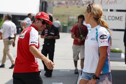 Fernando Alonso, Ferrari ve Carmen Jorda, GP3 Pilotu