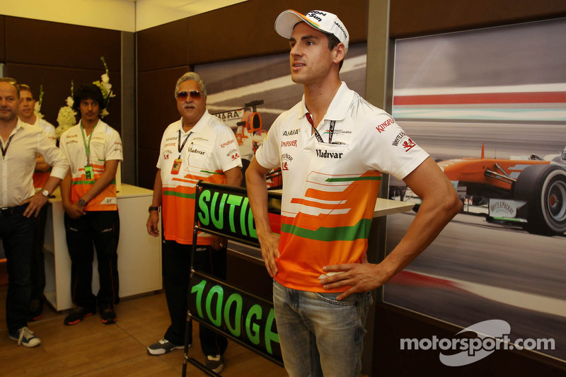 Adrian Sutil, Sahara Force India F1 viert zijn 100e GP met het team