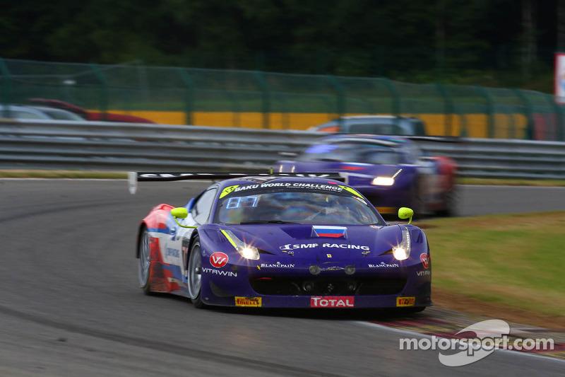 #72 SMP Racing Ferrari 458 Italia: Sergey Zlobin, Boris Rotenberg, Maurizio Mediani, Fabio Babini
