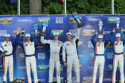 DP podium: winners Scott Mayer, Brendon Hartley, second place Christian Fittipaldi, Joao Barbosa, third place Burt Frisselle, Brian Frisselle