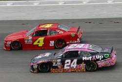 Dylan Lupton, JGL Racing Toyota, Ross Chastain, JD Motorsports Chevrolet