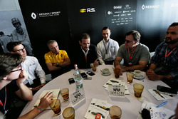 Alexandros Paleologos, INFINITI Academy Award Mexico Winner; Bob Bell, Renault Sport F1 Team Chief Technical Officer; Tommaso Volpe, INFINITI Global Director of Motorsport; and Evan Sloan, INFINITI Academy Award USA Winner, at a media roundtable.