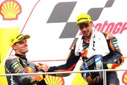 Podium: race winner Miguel Oliveira, Red Bull KTM Ajo, second place Brad Binder, Red Bull KTM Ajo