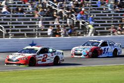 Brad Keselowski, Team Penske Ford, Ray Black Jr., Rick Ware Racing Chevrolet