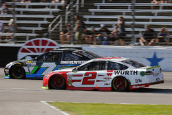 Brad Keselowski, Team Penske Ford and Joey Gase, Tommy Baldwin Racing Chevrolet