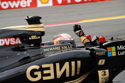 Derde plaats Romain Grosjean, Lotus F1 E23
