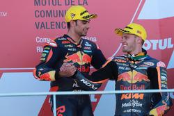 Podium: Race winner Miguel Oliveira, Red Bull KTM Ajo, Brad Binder, Red Bull KTM Ajo