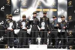 Podium Europe Pro-AM: first place Liang Jiatong, Christopher Dreyspring, VS Racing, second place Juan Perez, Corey Lewis, Antonelli Motorsport, third place Paul Scheuschner, Hendrik Still, Konrad Motorsport