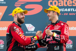 1. Jamie Whincup, Triple Eight Race Engineering Holden, 2. Shane van Gisbergen, Triple Eight Race Engineering Holden