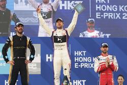 Podium: race winner, Sam Bird, DS Virgin Racing, second place Jean-Eric Vergne, Techeetah, third place Nick Heidfeld, Mahindra Racing
