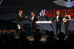 David Coulthard, Christian Horner, Martin Brundle y Lee McKenzie