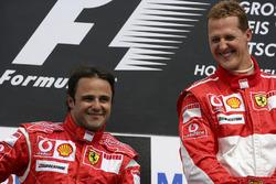 Podyum: Yarış galibi Michael Schumacher, Ferrari, 2. Felipe Massa, Ferrari