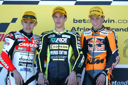 Podium : Roberto Locatelli, Andrea Dovizioso and Casey Stoner