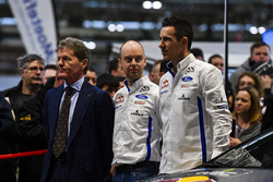 Malcolm Wilson and rally co-drivers Julien Ingrassia and Daniel Barrit