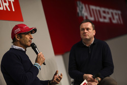 Emanuele Pirro talks to Henry Hope-Frost on the Autosport Stage