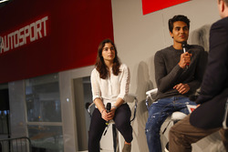 Jamie Chadwick and Enaam Ahmed talks to Henry Hope-Frost on the Autosport Stage