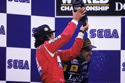 1. Ayrton Senna, McLaren; 2. Damon Hill, Williams