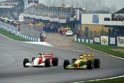 Айртон Сенна, McLaren MP4/8, и Риккардо Патрезе, Benetton B193B