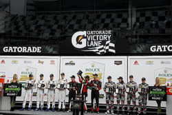 Podium Nothern Endurance Cup: #31 Action Express Racing Cadillac DPi: Felipe Nasr, Eric Curran, Mike Conway, Stuart Middleton, #66 Ford Performance Chip Ganassi Racing Ford GT: Joey Hand, Dirk Müller, Sebastien Bourdais, #86 Michael Shank Racing Acura NSX: Katherine Legge, Alvaro Parente, Trent Hindman, A.J. Allmendinger