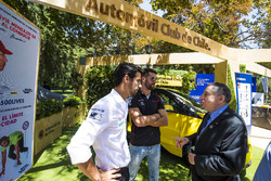 Jean Todt at the FIA e-Village stand, with Jose Maria Lopez, Dragon Racing. & Lucas di Grassi, Audi Sport ABT Schaeffler