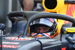 Max Verstappen, Red Bull Racing con el halo