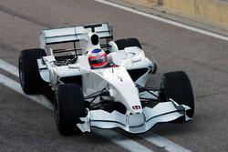 Rubens Barrichello, fa il primo giro con la nuova Honda RA108