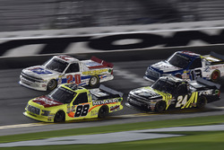 Matt Crafton, ThorSport Racing, Fisher Nuts/ Menards Ford F-150, Scott Lagasse Jr., Young's Motorsports, Chevrolet Silverado, Justin Haley, GMS Racing, Fraternal Order Of Eagles Chevrolet Silverado