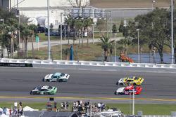 Brandon Jones, Joe Gibbs Racing, Juniper Toyota Camry and Brandon Brown, Brandonbilt Motorsports, CONO.io Chevrolet Camaro